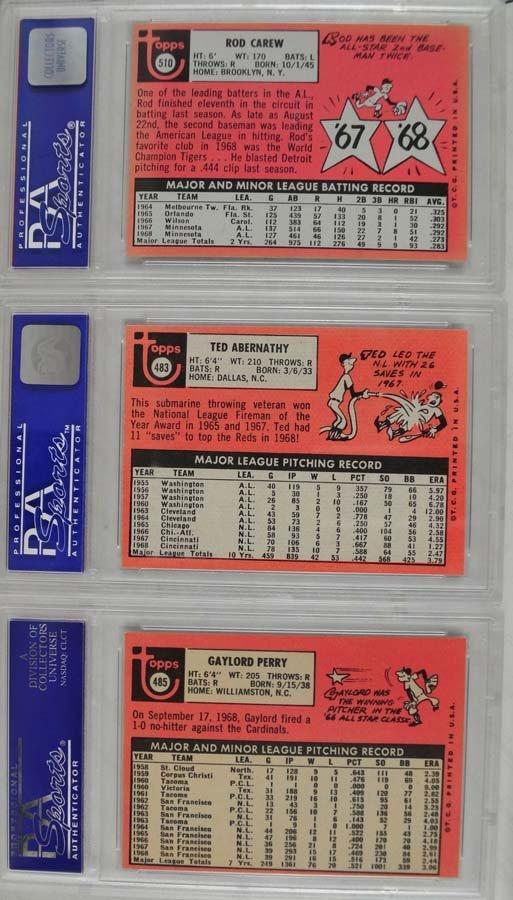 14 1969 Topps Baseball Cards PSA Graded 8 - 8