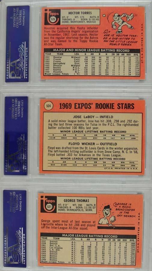 22 1969 Topps Baseball Cards PSA Graded 8 - 2