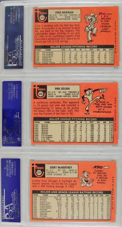 22 1969 Topps Baseball Cards PSA Graded 8 - 6