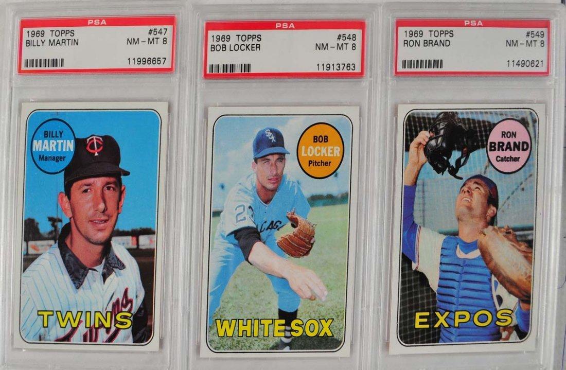 22 1969 Topps Baseball Cards PSA Graded 8 - 7