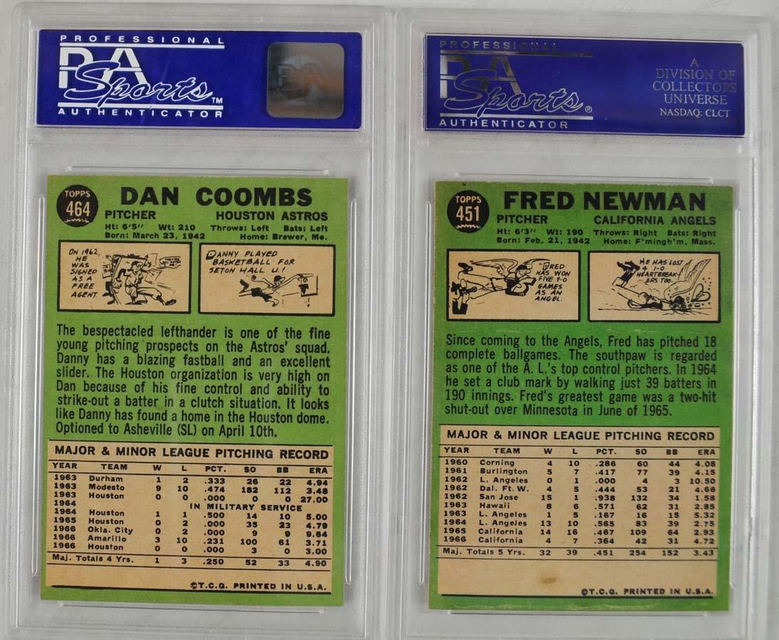 16 1967 Topps Baseball Cards PSA Graded 8 - 10