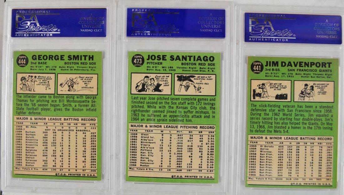 16 1967 Topps Baseball Cards PSA Graded 8 - 2