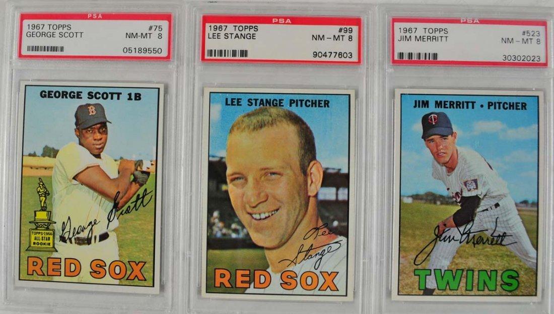 16 1967 Topps Baseball Cards PSA Graded 8 - 5