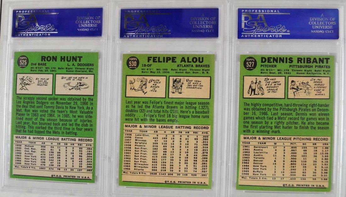 16 1967 Topps Baseball Cards PSA Graded 8 - 8