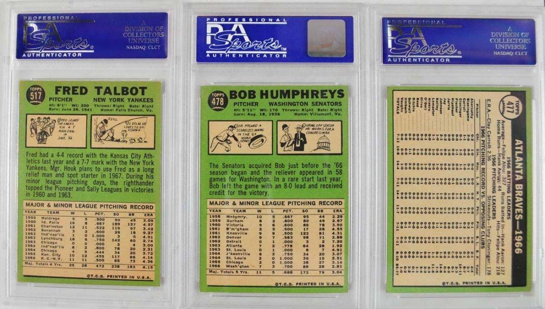 17 1967 Topps Baseball Cards PSA Graded 8 - 2