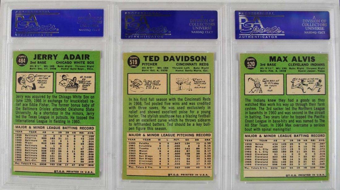 17 1967 Topps Baseball Cards PSA Graded 8 - 4