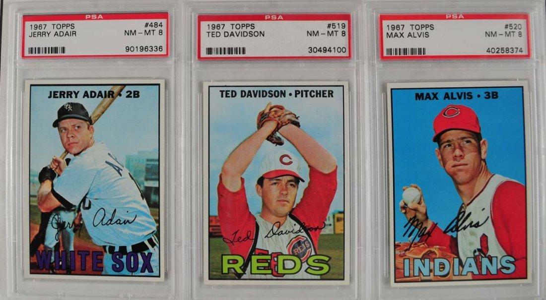 17 1967 Topps Baseball Cards PSA Graded 8 - 5