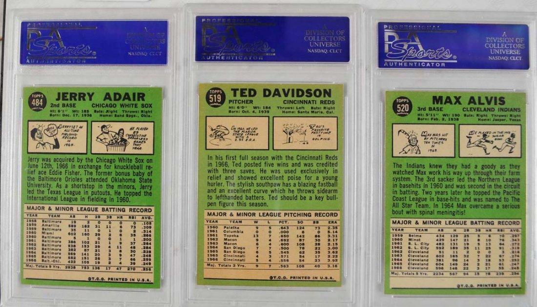17 1967 Topps Baseball Cards PSA Graded 8 - 6