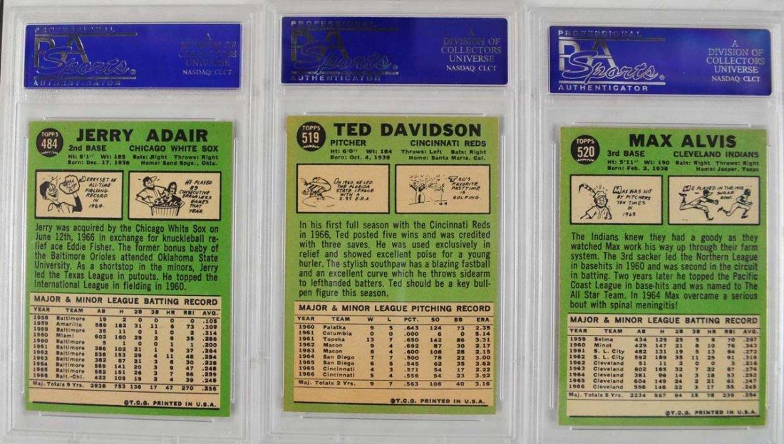 17 1967 Topps Baseball Cards PSA Graded 8 - 7