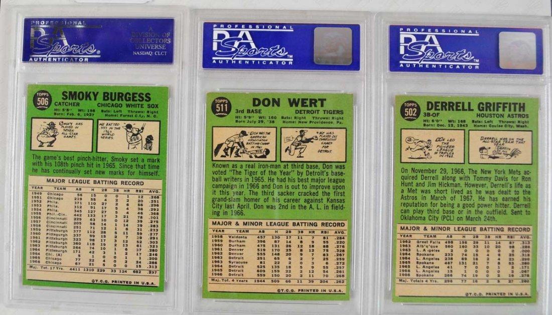 17 1967 Topps Baseball Cards PSA Graded 8 - 9