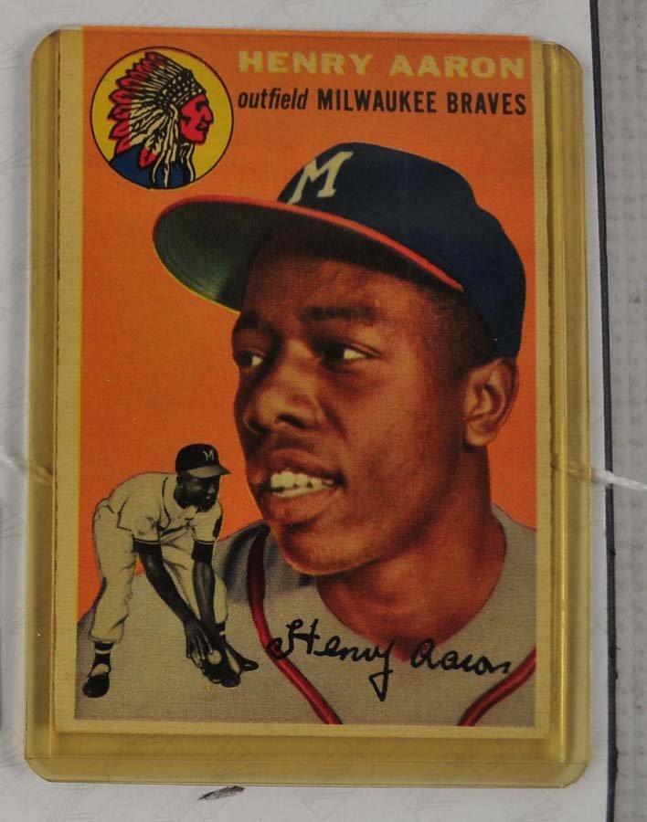 1954 Topps Hank Aaron Ungraded