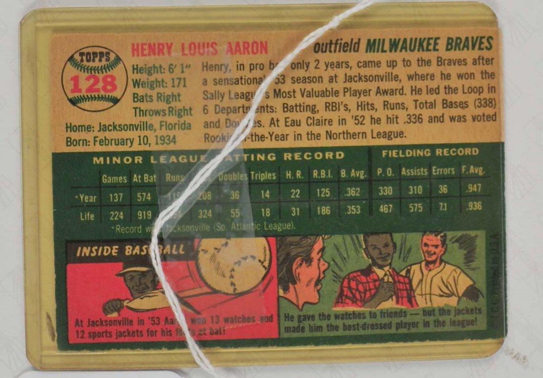 1954 Topps Hank Aaron Ungraded - 2