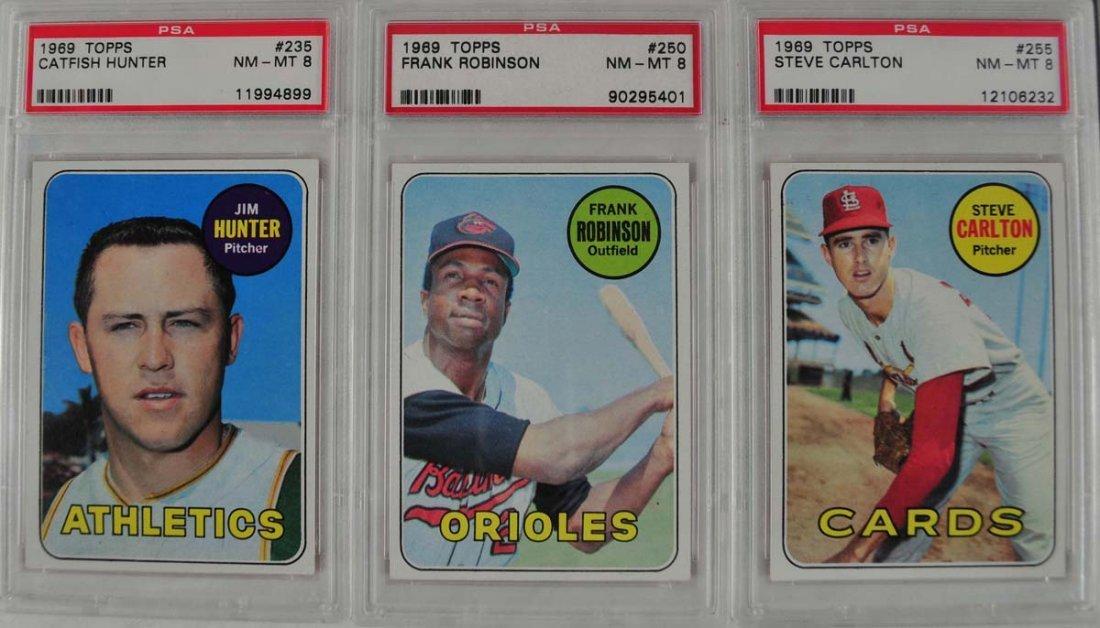 Five PSA 8 Graded baseball Cards