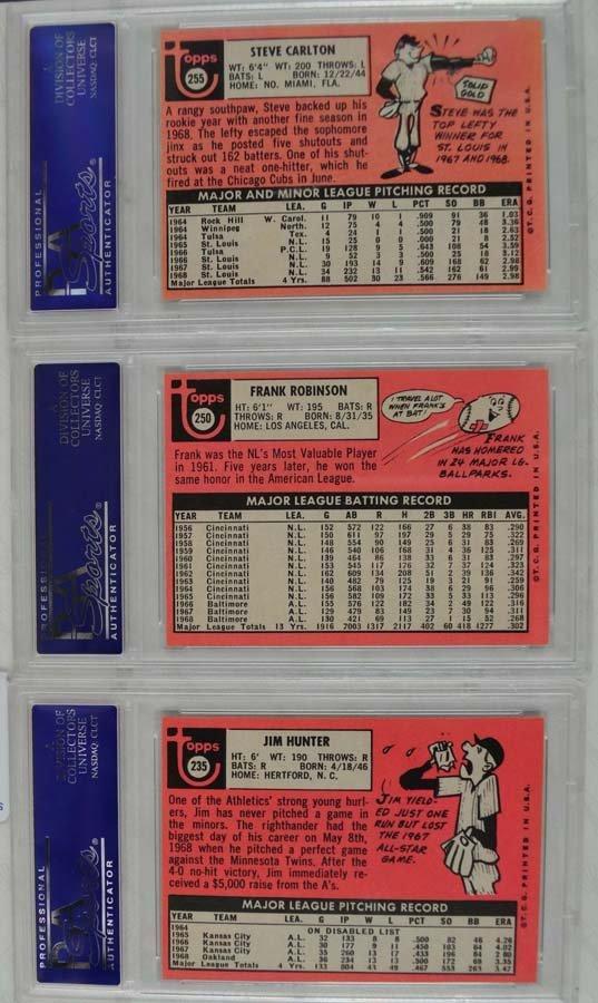 Five PSA 8 Graded baseball Cards - 2
