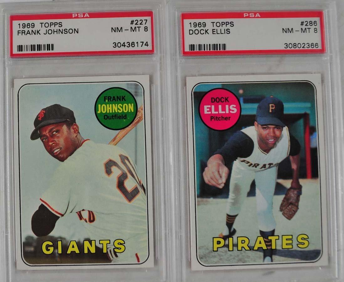 Five PSA 8 Graded baseball Cards - 3