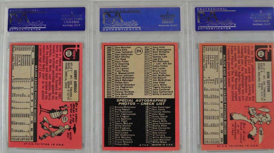 20 1969 Topps Baseball Cards PSA Graded 8 - 10
