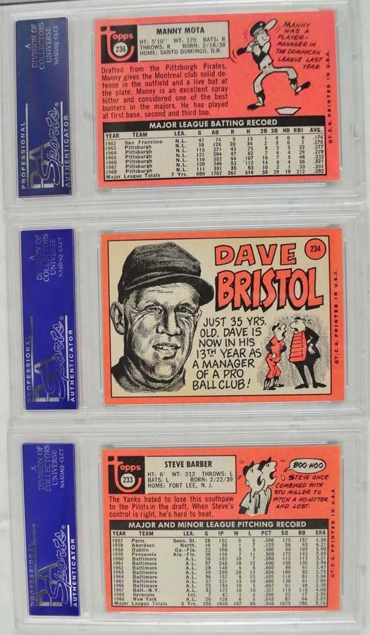 20 1969 Topps Baseball Cards PSA Graded 8 - 2