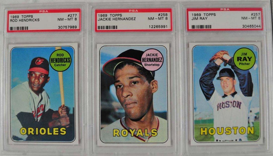20 1969 Topps Baseball Cards PSA Graded 8 - 7