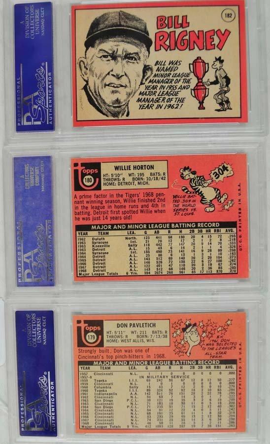20 1969 Topps Baseball Cards PSA Graded 8 - 8