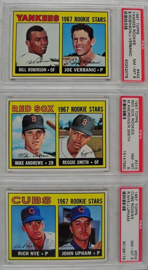 14 1967 Topps Baseball Cards PSA Graded 8
