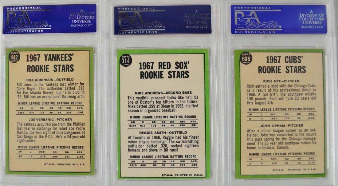 14 1967 Topps Baseball Cards PSA Graded 8 - 2