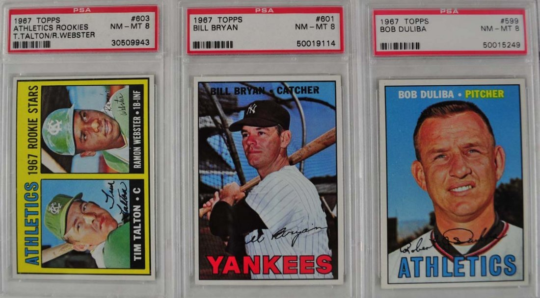 14 1967 Topps Baseball Cards PSA Graded 8 - 3