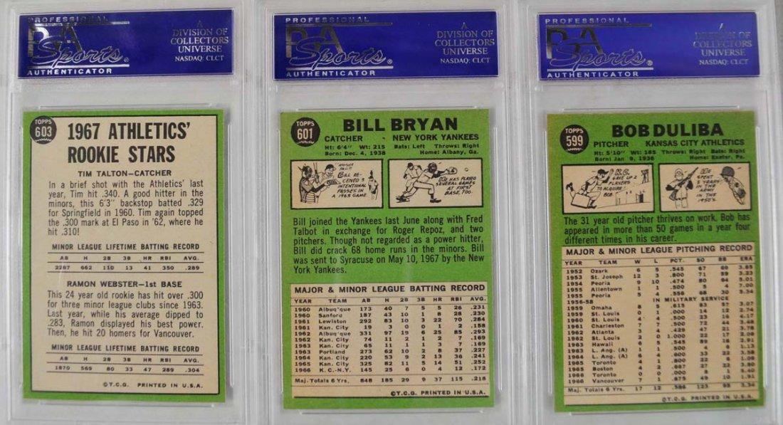 14 1967 Topps Baseball Cards PSA Graded 8 - 4