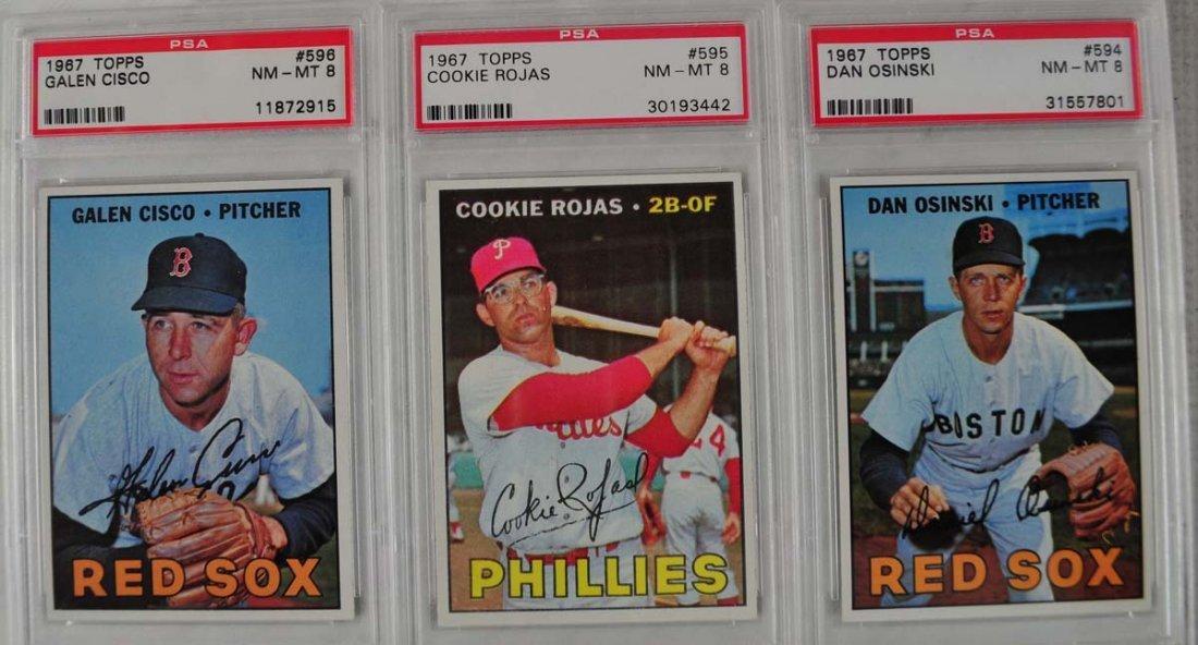 14 1967 Topps Baseball Cards PSA Graded 8 - 5