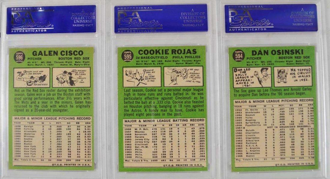 14 1967 Topps Baseball Cards PSA Graded 8 - 6