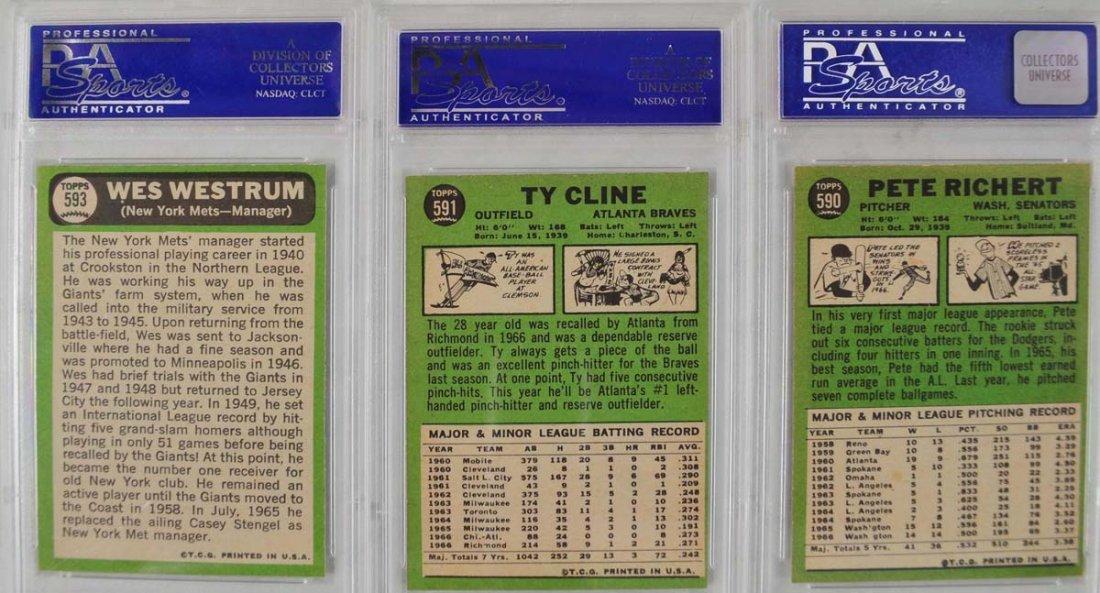14 1967 Topps Baseball Cards PSA Graded 8 - 8