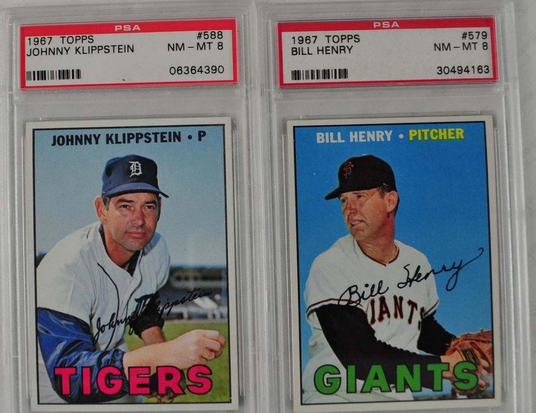 14 1967 Topps Baseball Cards PSA Graded 8 - 9