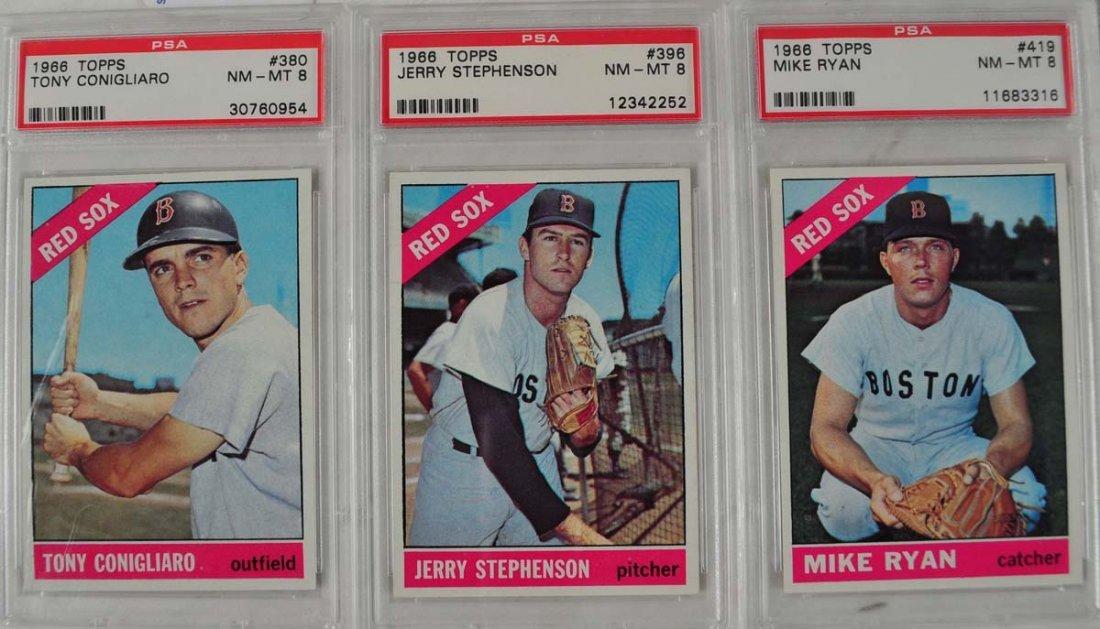 14 1966 Topps Baseball Cards PSA Graded 8
