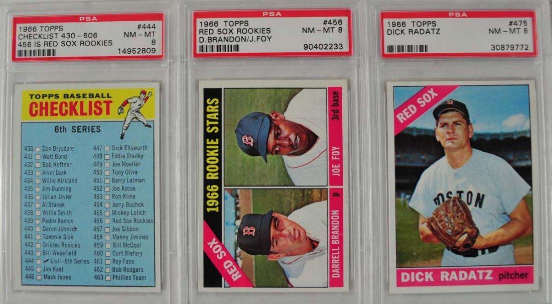 14 1966 Topps Baseball Cards PSA Graded 8 - 3