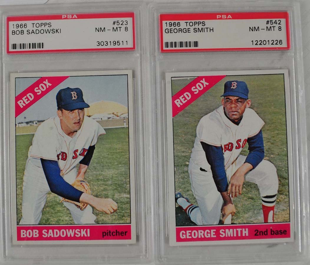 14 1966 Topps Baseball Cards PSA Graded 8 - 9