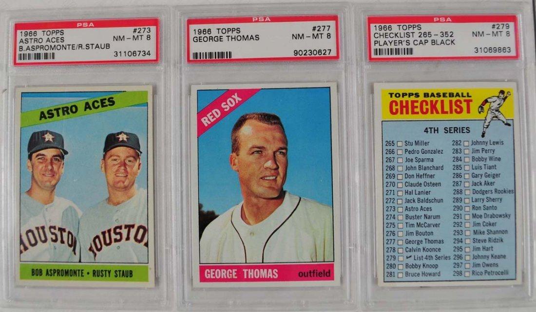 21 1966 Topps baseball cards PSA Graded 8