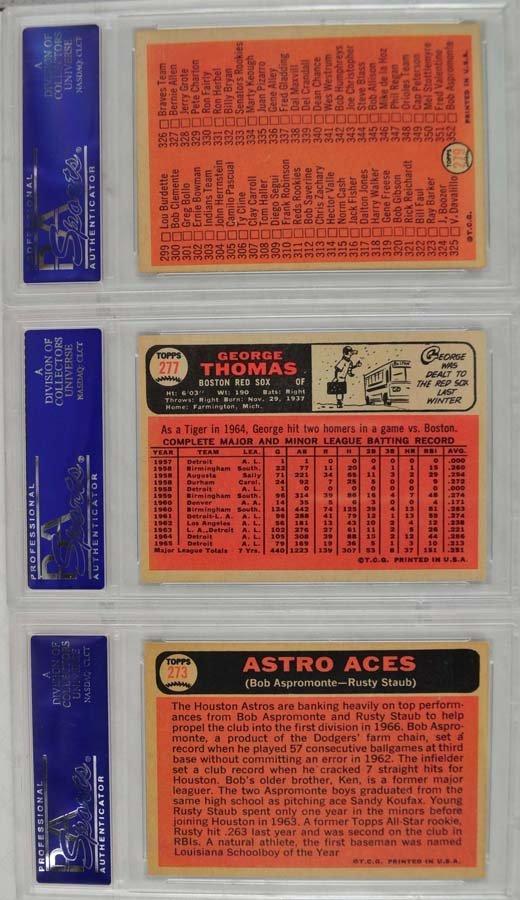 21 1966 Topps baseball cards PSA Graded 8 - 2