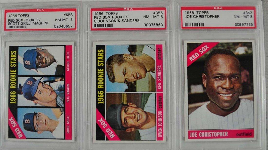 21 1966 Topps baseball cards PSA Graded 8 - 5