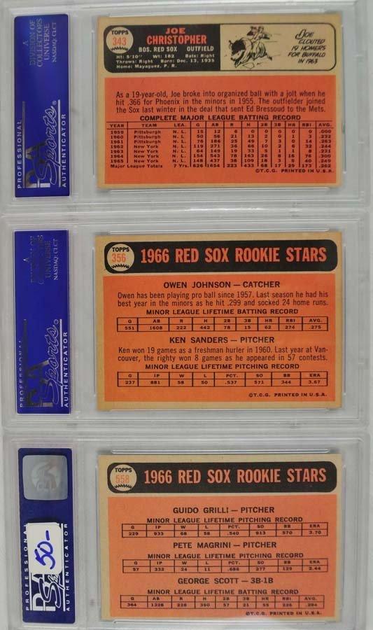 21 1966 Topps baseball cards PSA Graded 8 - 6