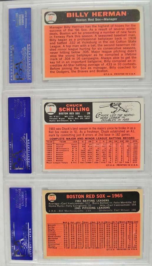 21 1966 Topps baseball cards PSA Graded 8 - 8