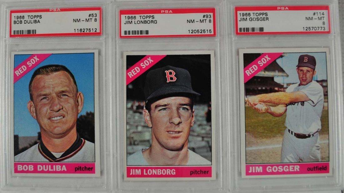 21 1966 Topps baseball cards PSA Graded 8 - 9