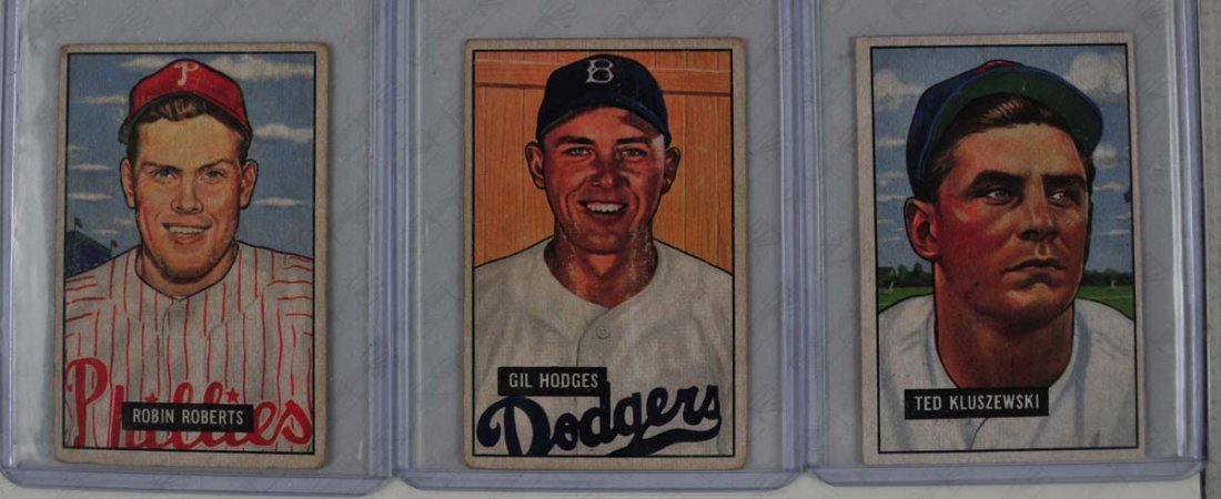 Three 1951 Bowman Mid Grade HOF Players