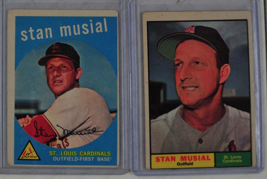 1959 and 1961 Stan Musial cards