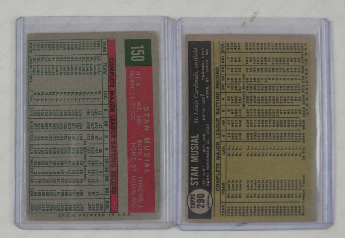 1959 and 1961 Stan Musial cards - 2