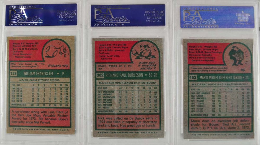 32 1975 Topps Baseball Cards PSA Graded 8 - 2
