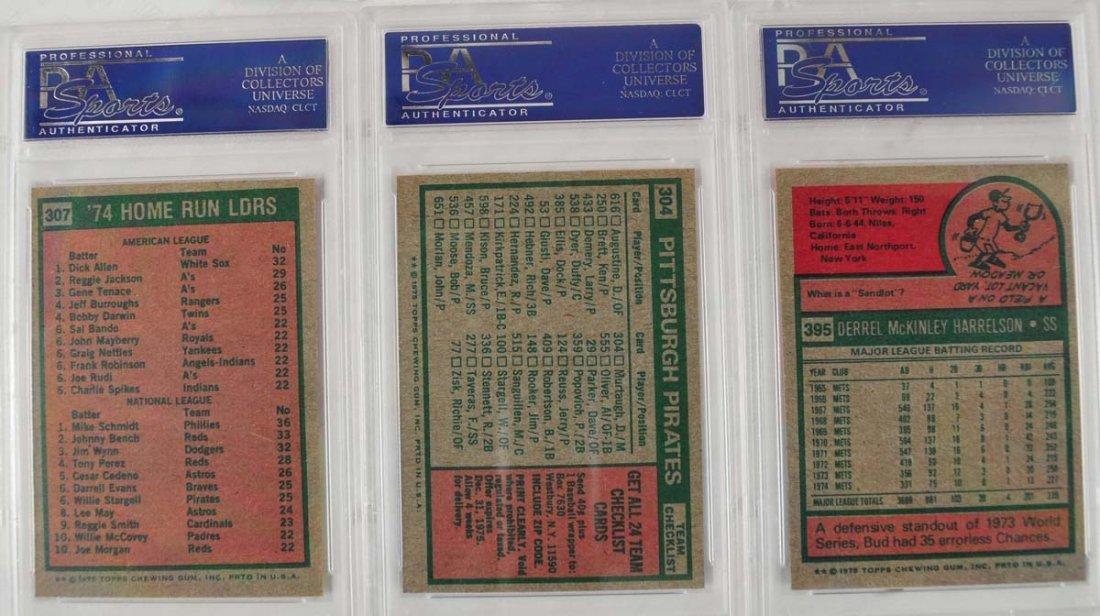 16 1975 Topps Baseball Cards PSA Graded 9 - 10