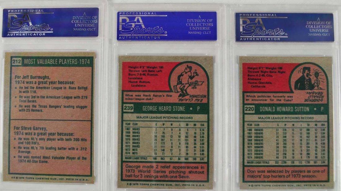 16 1975 Topps Baseball Cards PSA Graded 9 - 4