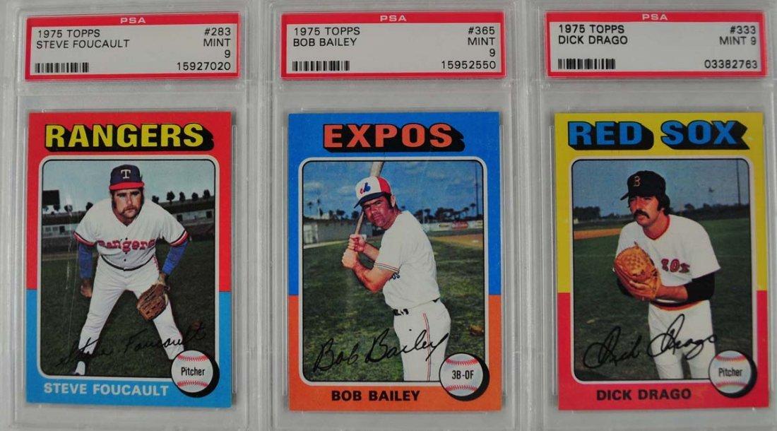 16 1975 Topps Baseball Cards PSA Graded 9 - 5
