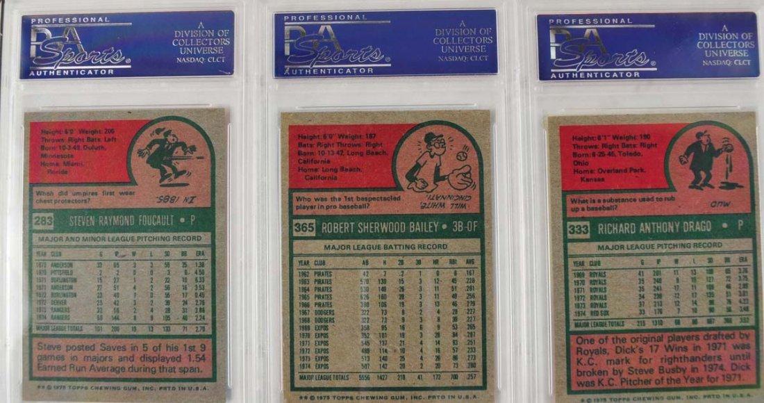 16 1975 Topps Baseball Cards PSA Graded 9 - 6