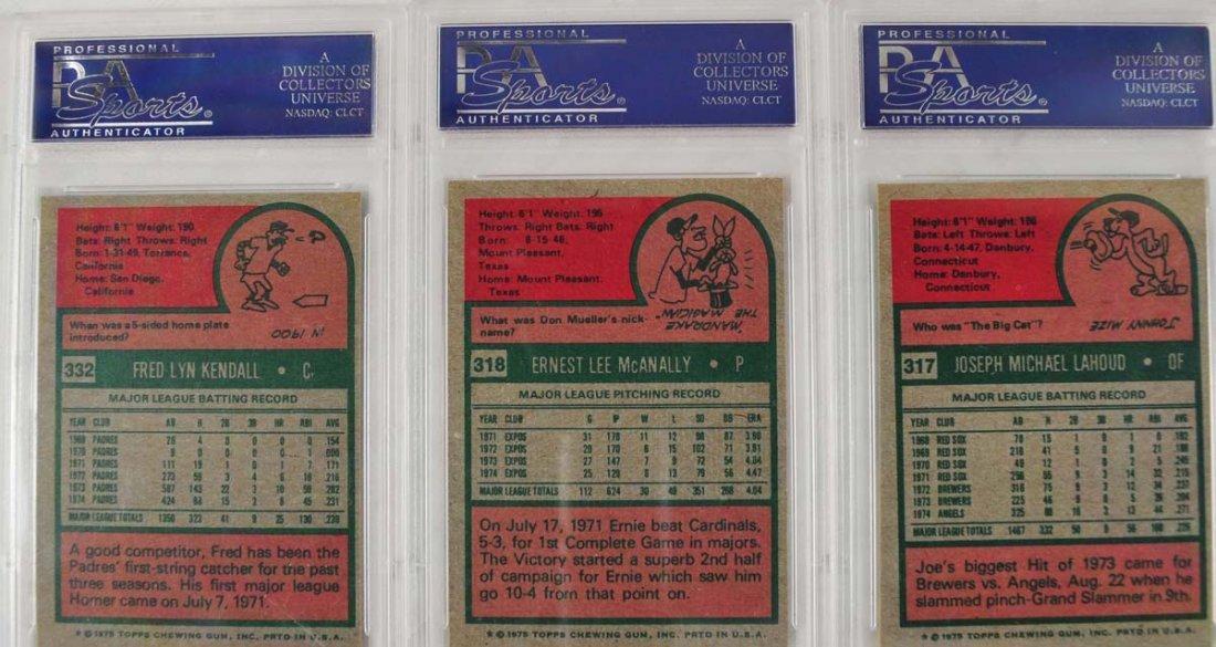 16 1975 Topps Baseball Cards PSA Graded 9 - 8