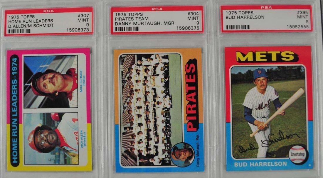 16 1975 Topps Baseball Cards PSA Graded 9 - 9